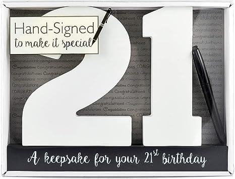 Choose Design Landmark SIGN IT Wooden Birthday Number Signature Plaque
