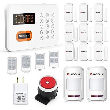 KERUI - X1 Kit Alarma de casa inalámbrica telefónica inalámbrico RTC detector de movimiento anti Intrusion sistema de seguridad inteligente Proactividad ...