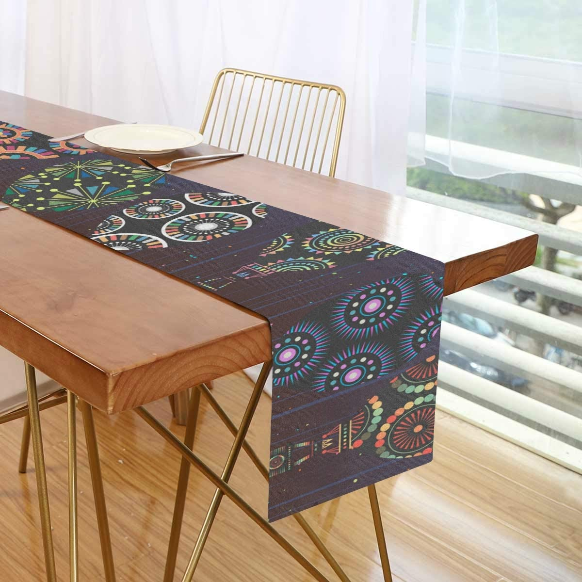 Amazon Com Jin Sha Hot Air Balloon Long Table Runner Cloth 13x70 Inch Polyester Table Cloth For Kitchen Wedding Party Home Kitchen