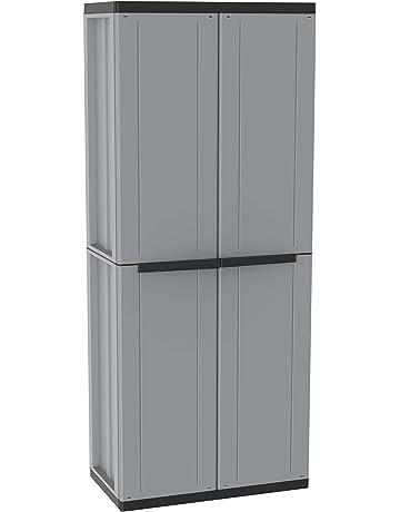 Terry - Armario plástico exterior, 68 x 37.5 x 163.5 cm
