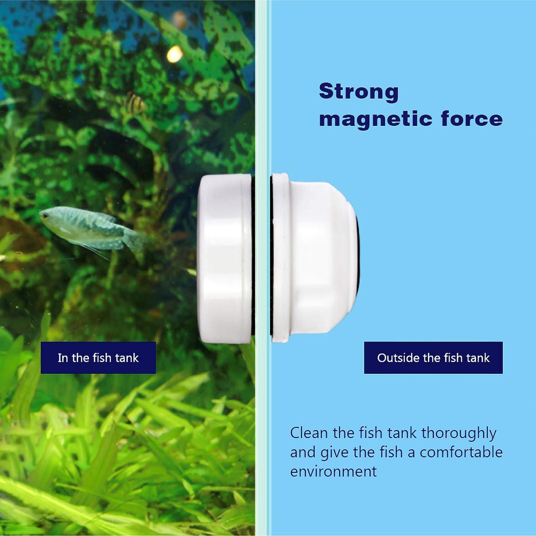 Algae Scrapers Aquarium Glass Cleaner Magnetic Brush Mini Aquariums Algae Cleaning Brush Strong Suction Force Aquarium Glass Cleaner Fish Bowls Brush Suitable for Small Fish Tank