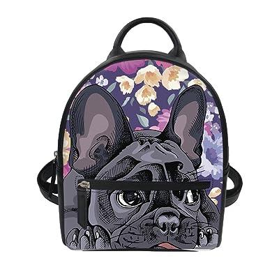 Coloranimal Womens Mini PU Leather Backpack Purse Cartoon Printing Backpacks new