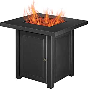 Diophros Propane Gas Fire Pit Table, 28 inch 50,000 BTU Premium Outdoor Square Patio Heaters
