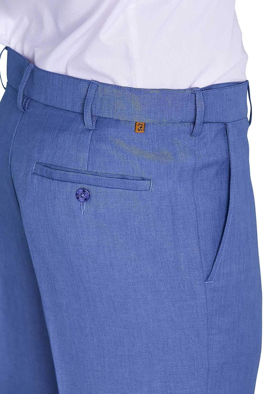 FARAH Mens Flex Trouser Pants with Self-Adjusting Waistband