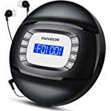 CD Player with Bluetooth Portable CD Player with Headphone, FANGOR Compact Rechargeable CD Player with Anti-Skip/Shock Protec