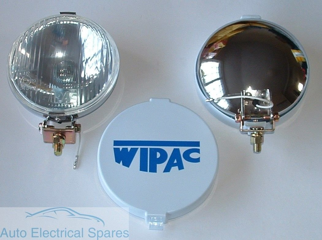1 x PAIR WIPAC S6078 5 1//2 CHROME Halogen Driving FOG Lamps