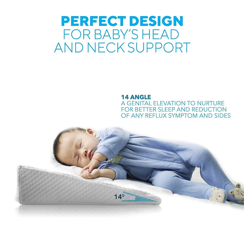 Amazon.com: Bebé almohada de cuna cuña de espuma de memoria ...