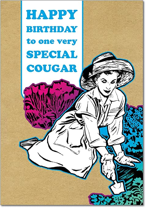 Cougar birthday joke card amazon office products bookmarktalkfo Gallery