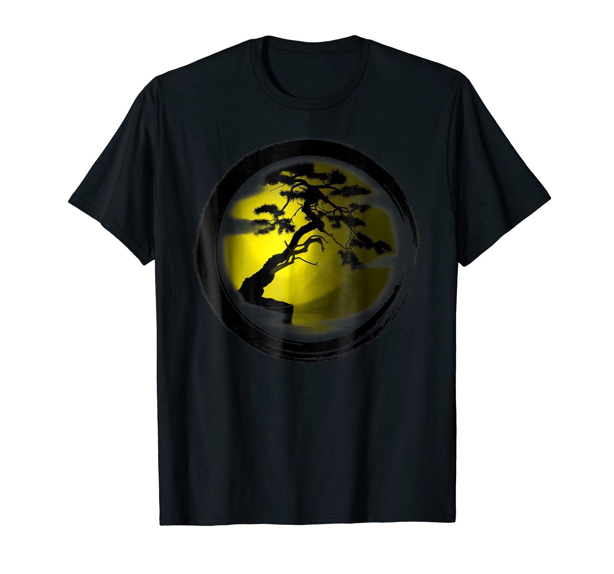 Bonsai Tree graphics Yoga T-Shirt