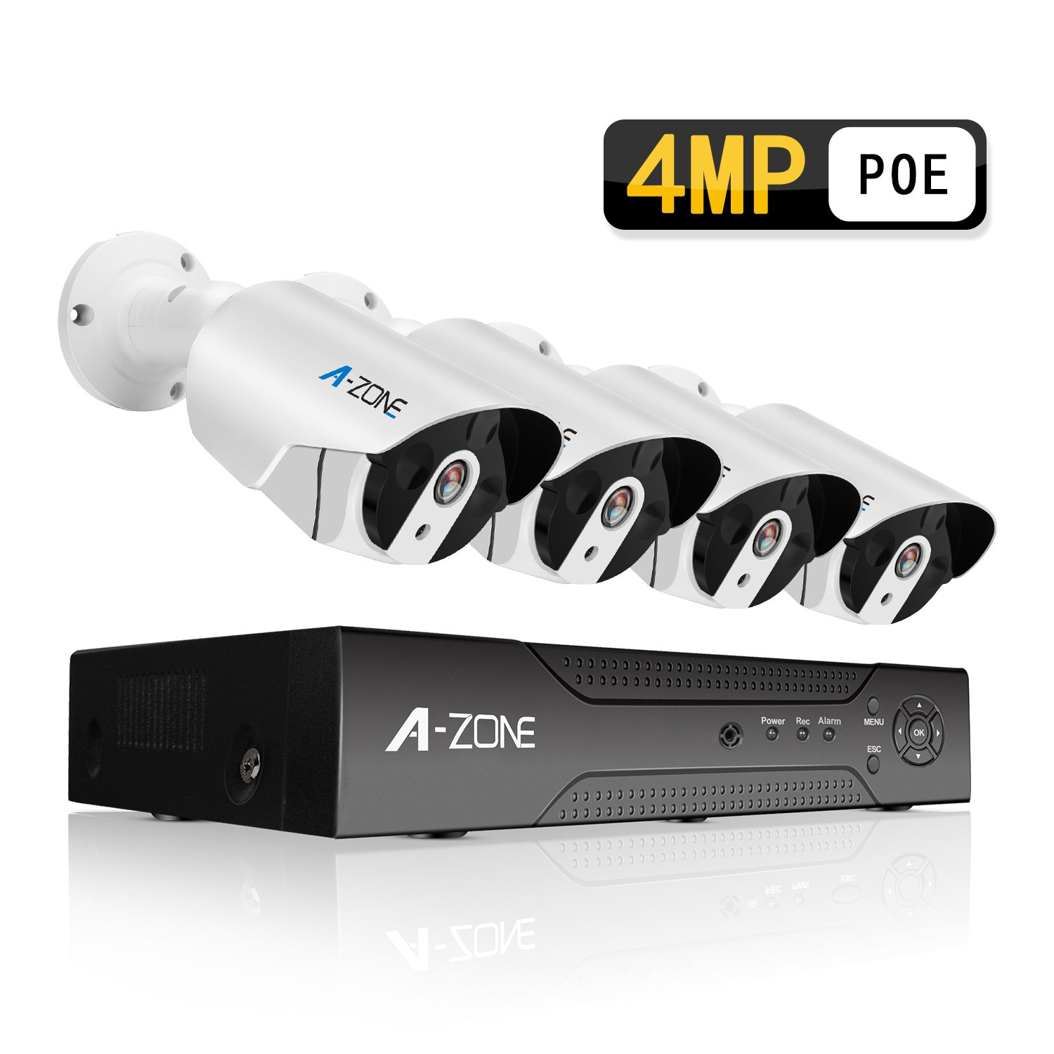 Poe Camera System A Zone Home Ip Security Alarm 5 Circuit Using Cmos Ic 4 Megapixels Super Hd 2560x1440 Channel Nvr With Bullet Cameras 24 7