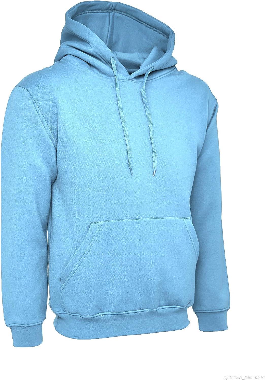 Ladies Loose Fit Hoodie Size UK 10 to 30 Plus Plain Hooded Sweatshirt