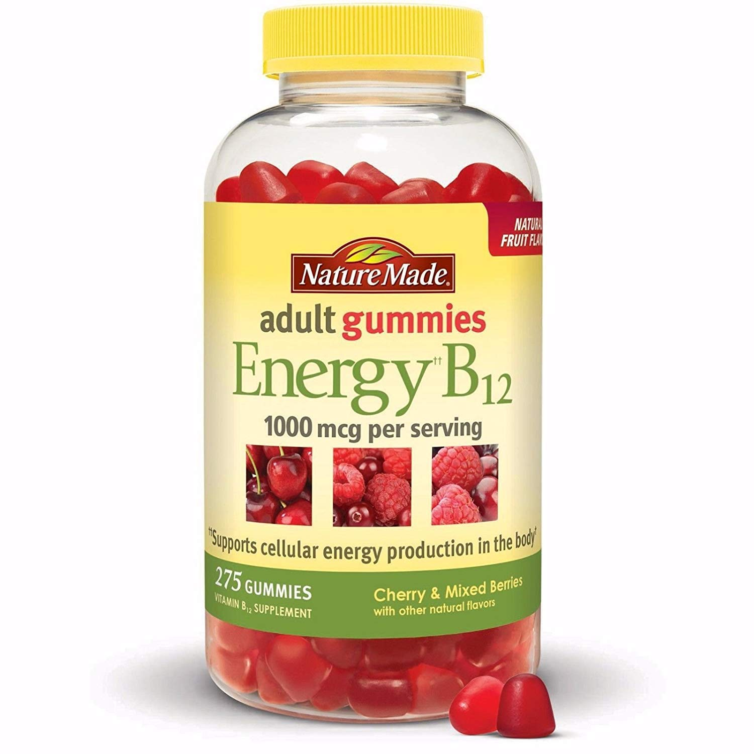 Nature Made Adult Gummies Energy B-12, 1000 mcg (275) by Nature Made
