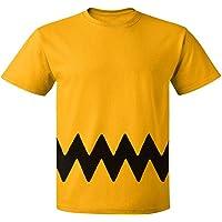 Custom Kingdom Mens Peanuts Charlie Brown T-Shirt