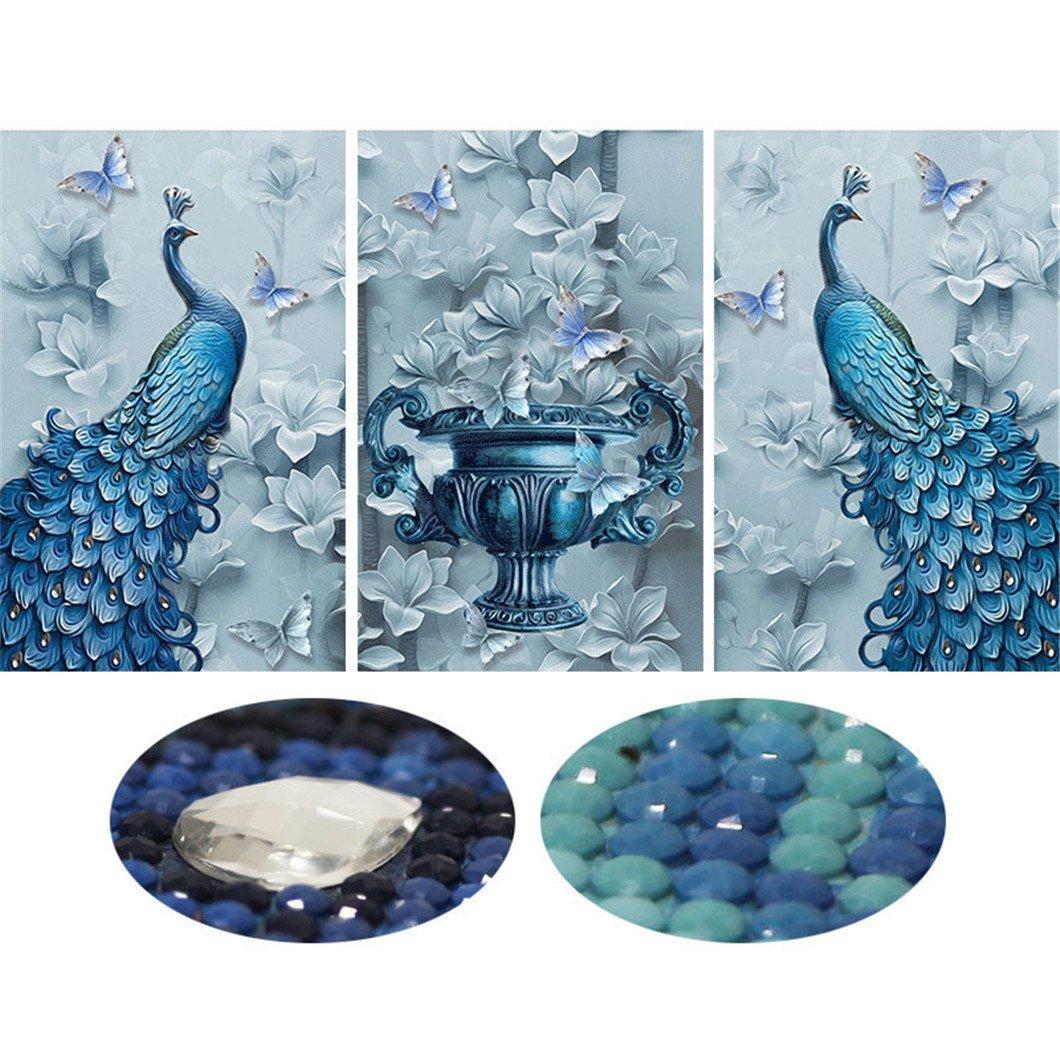 Mazixun Special Shaped Diamond Embroidery Animal Peacock Full 5D DIY Diamond Painting Cross Stitch 3D Diamond Mosaic Picture Decor 60x135cm