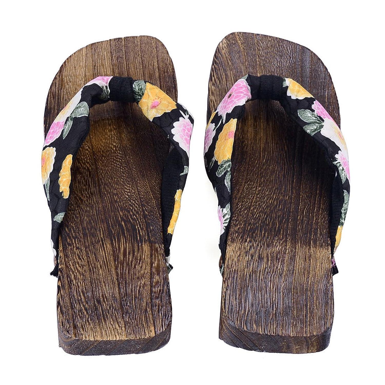Jiyaru Women's Slippers Flip Flops Wooden Sandals Geta Clogs Japan Style:  Amazon.ca: Shoes & Handbags