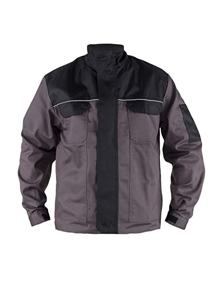 TMG® Chaqueta de Trabajo para Hombre - Resistente y Ligera - Gris: Amazon.es: Ropa y accesorios