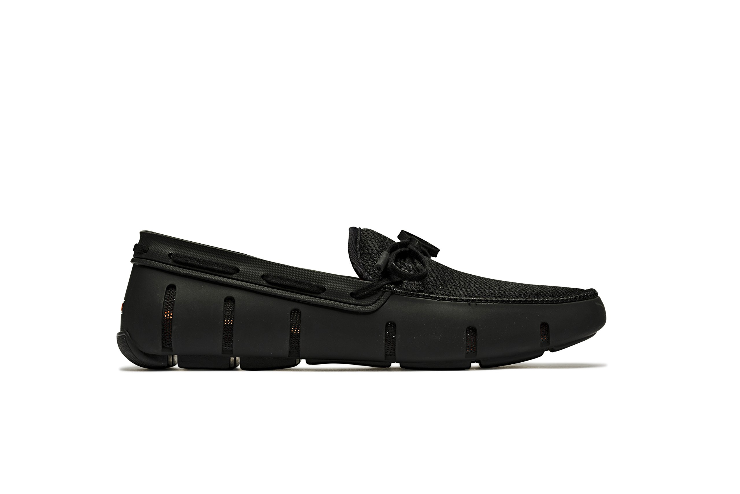 SWIMS Men's Lace Loafer for Pool - Black - 11 D(M) US