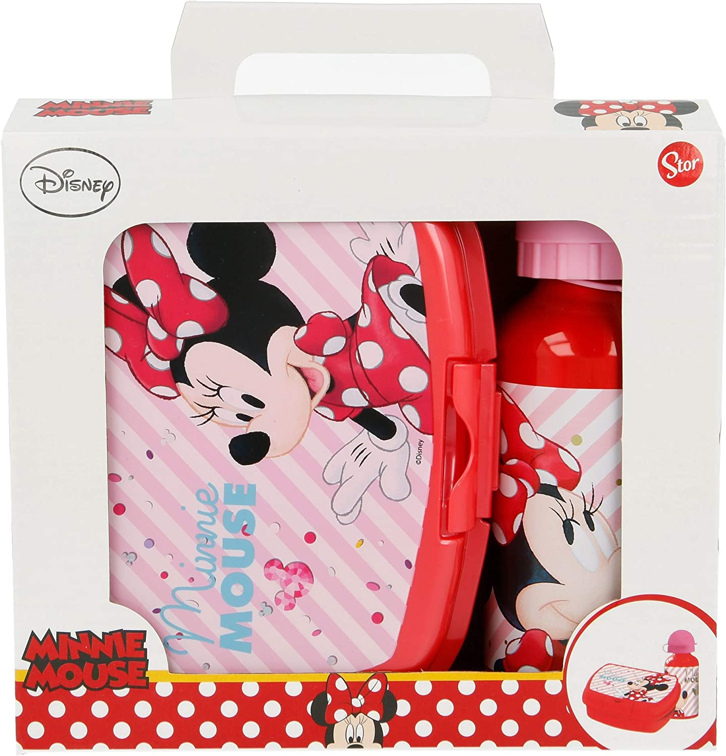SET URBAN VUELTA AL COLE 2 PCS. (BOTELLA ALUMINIO 400 ML, SANDWICHERA URBAN) MINNIE MOUSE - DISNEY - ELECTRIC DOLL