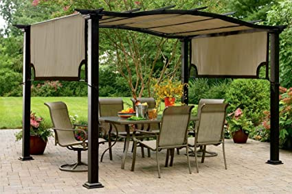 Prime The Outdoor Patio Store Replacement Canopy For Essential Gardens Curved Pergola Machost Co Dining Chair Design Ideas Machostcouk