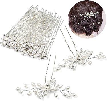 Les 5 Epingles Cheveux Mariage Strass Bijoux Accessoires Coiffure Mariage