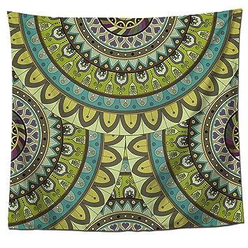 Amazon.com: yj-bear Bohemia flor Impreso India estilo toalla ...