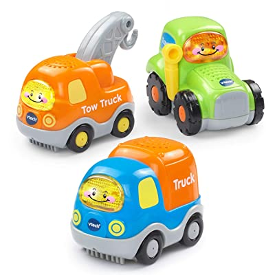 VTech Go! Go! Smart Wheels Heavy Duty Vehicles 3-Pack: Toys & Games