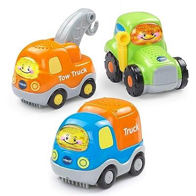 VTech Go! Go! Smart Wheels Heavy Duty Vehicles 3-Pack: Toys & Games [5Bkhe1106006]