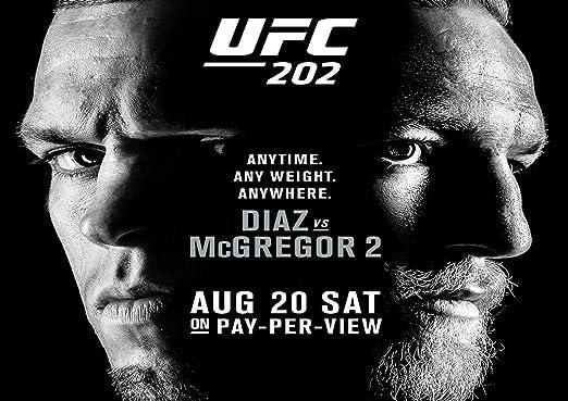 Conor McGregor V Nate Diaz UFC 202 Art Print Photo Picture Poster A3 A4
