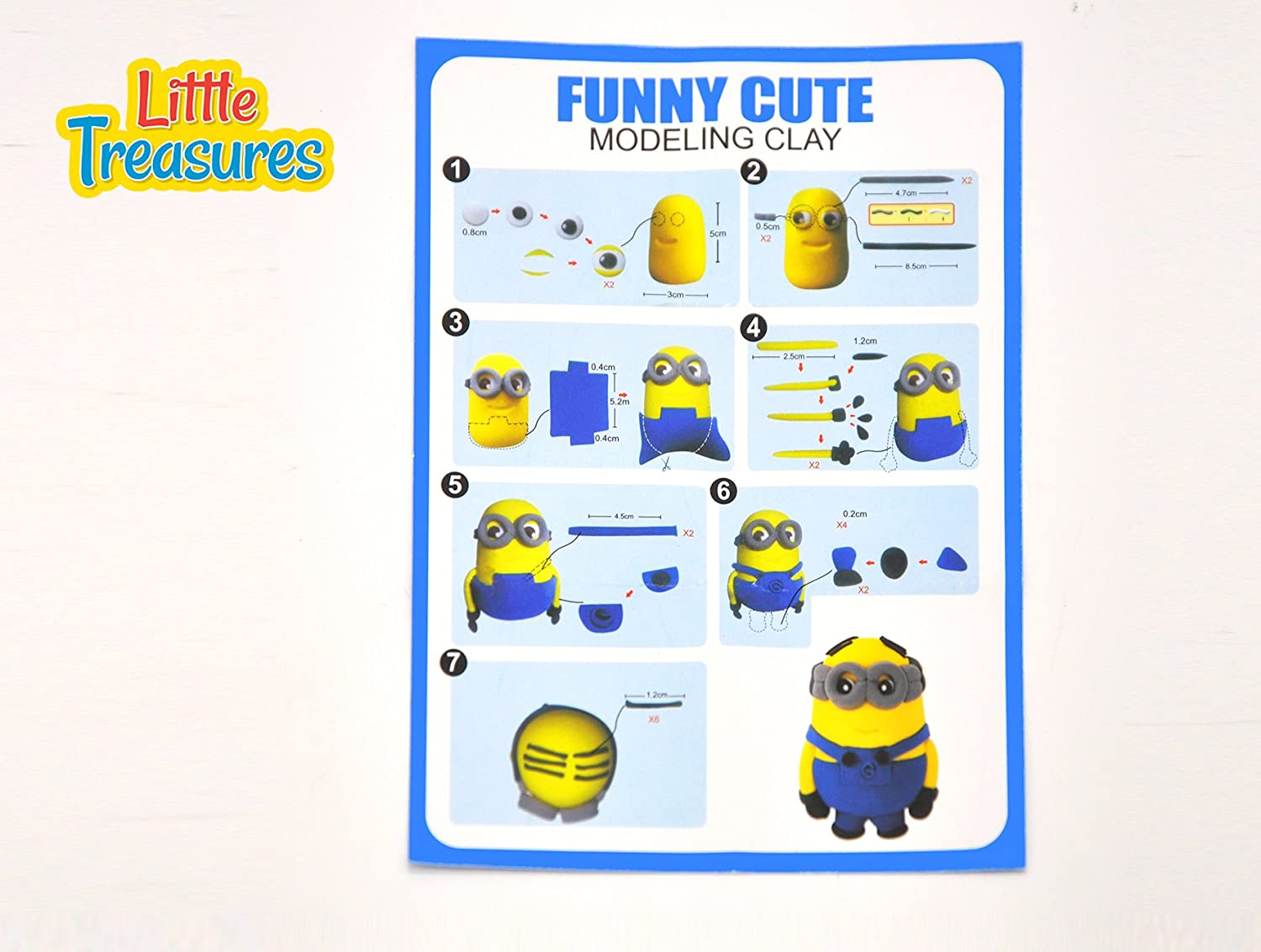 Little Treasures Super-Happy Bob Cartoon Character Clay Modeling and Sculpting DIY Play-Set Create Your 3D Favorite Figure with molding Play-Dough kit