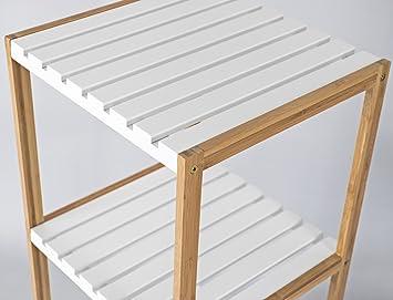 Elbmoebel - Estantería de madera de bambú con 3 estantes o 4 ...