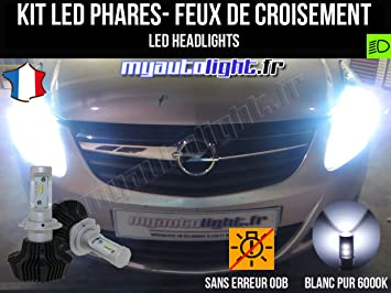 FITS  VAUXHALL CORSA AFL 2007-ON   SET H7  XENON LIGHT BULBS