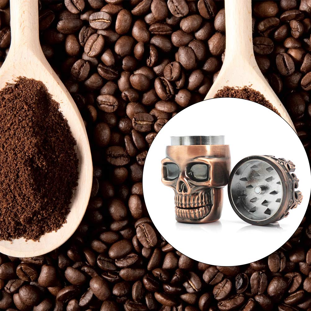 Surenhap Herb Grinder King Skull Ancient Crowned Crusher Mill Tobacco Spice Coffee Durable Alloy Grinder Premium 3 Layers
