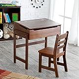Schoolhouse Desk and Chair Set - Walnut