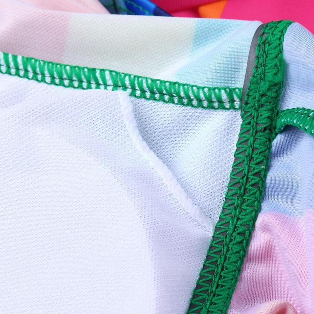 Longra 2018 Ropa Interior del Arco Iris Modificado para requisitos particulares Mujeres Bikini Beach Acolchado de Baño Colorido Vestido de Rayas ...