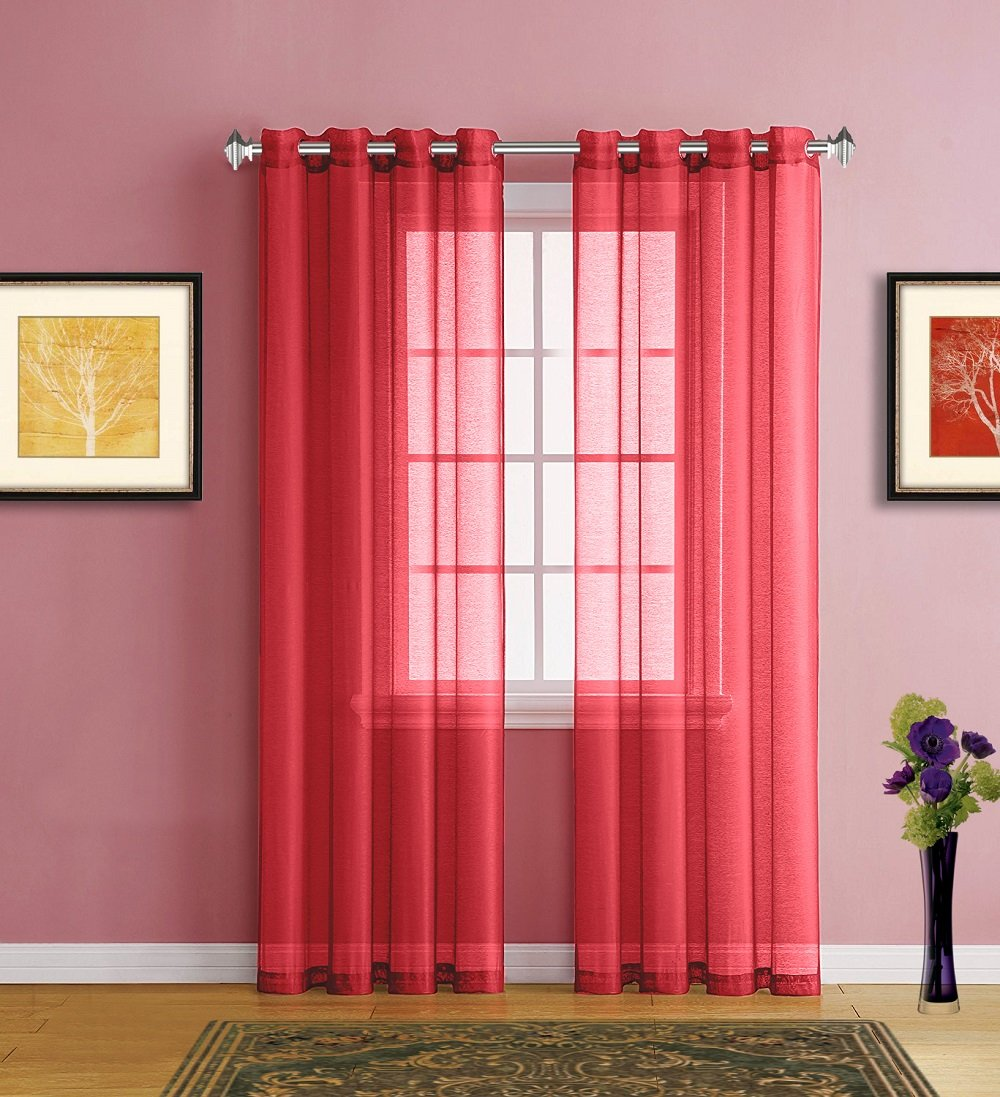 Home Design Ideas Curtains: Red Window Curtain Panels Sale