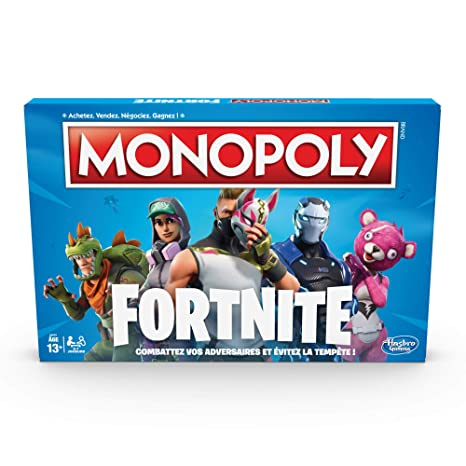 Monopoly Jeu De Societe Monopoly Fortnite Jeu De Plateau Version Française