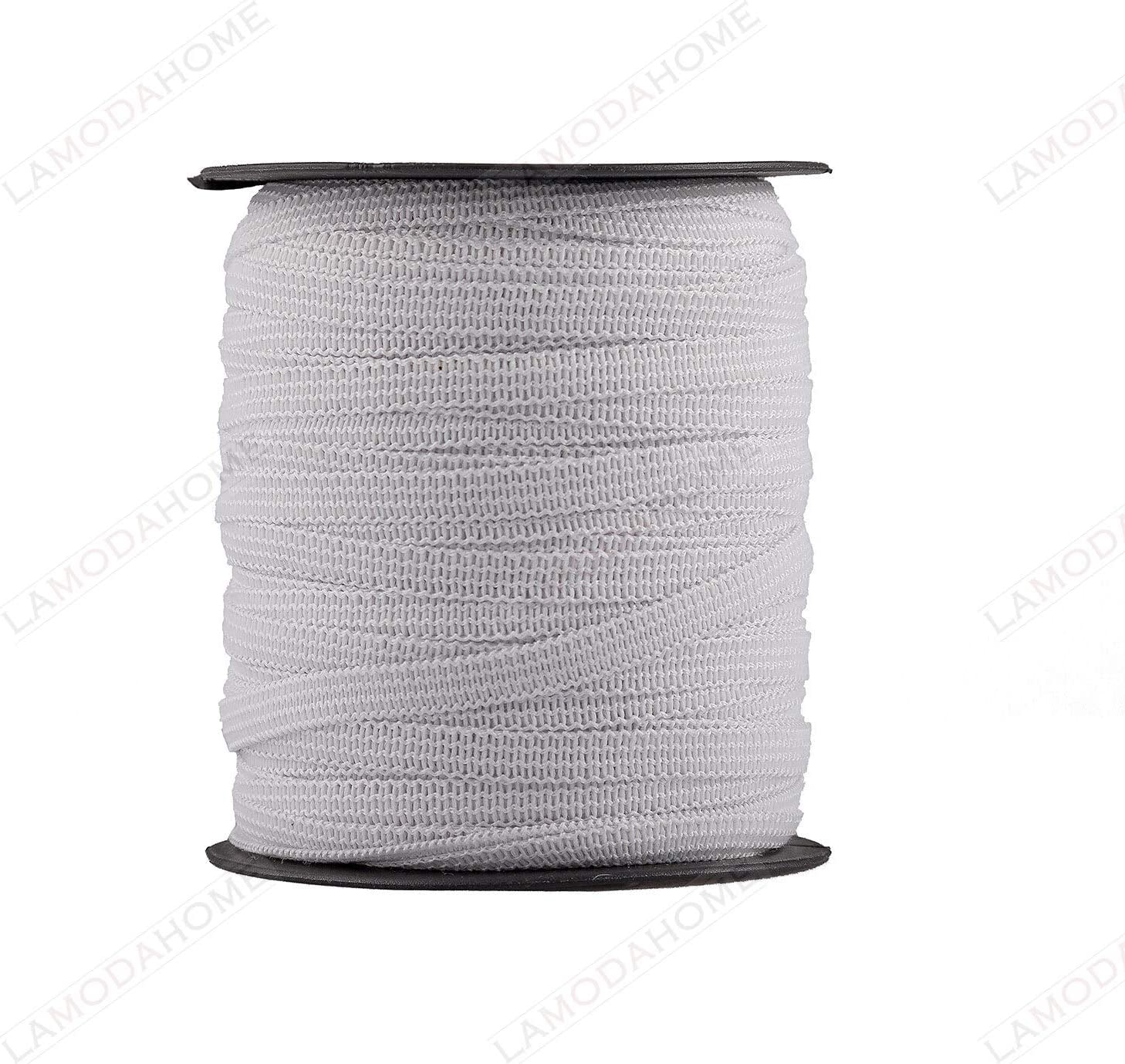 White 10 Yards 1//4 Elastic Band Sewing Stretch Crafts Masks Soft Ear-Friend Quality 10 Meter - 1//4 inch|6 mm Width DIY Handmade Mask Rope//Cord US Stock Comes with Carton as Pictured