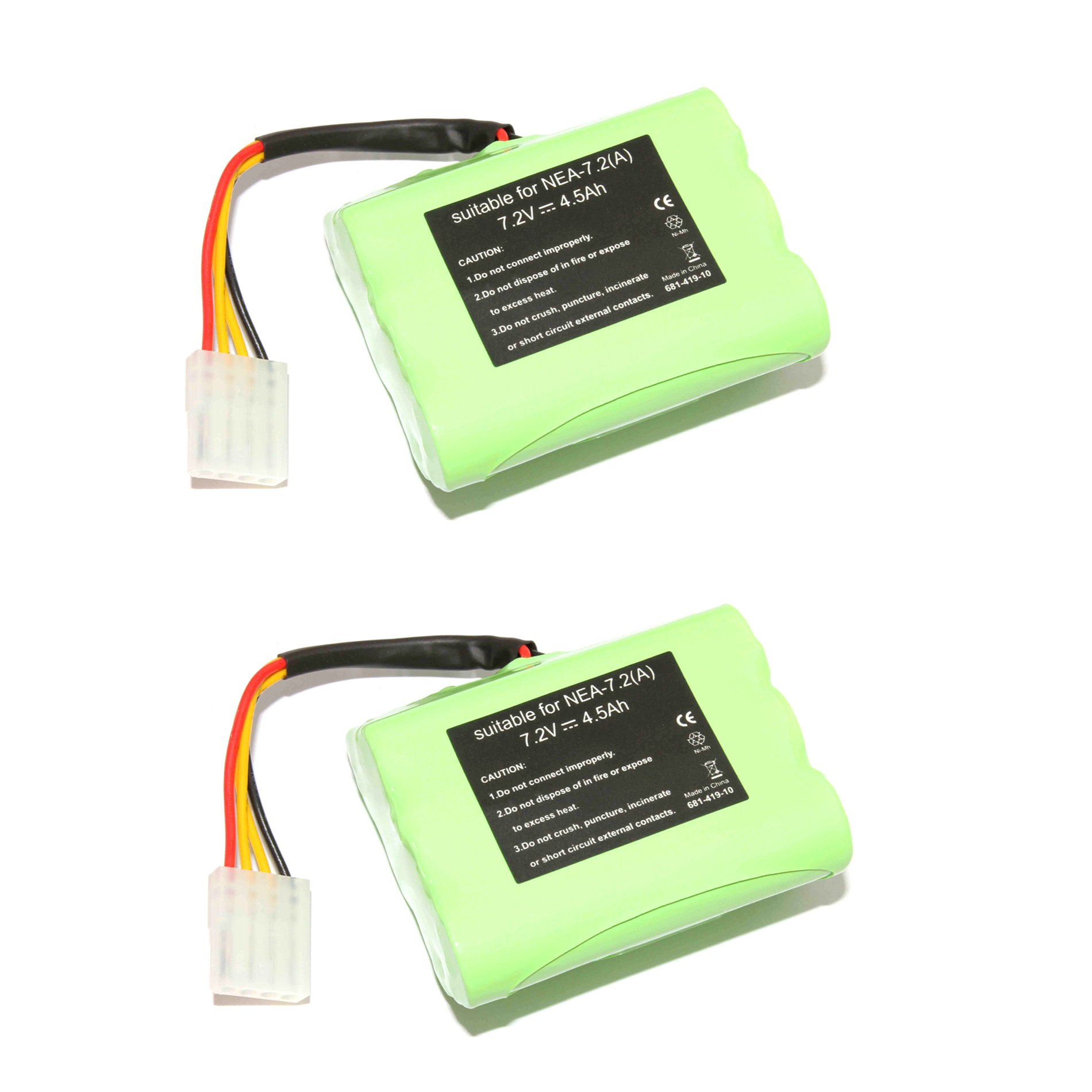 IDS Home 2pcs 7.2V 4500mAh Ni-Mh Vacuum Cleaner Replacement Battery for Neato VX-11 VX-21 VX-15 VX-12