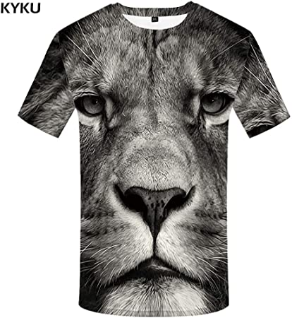 KYKU Tigre T Shirt Animal Camiseta 3D Punk Print Shirts ...