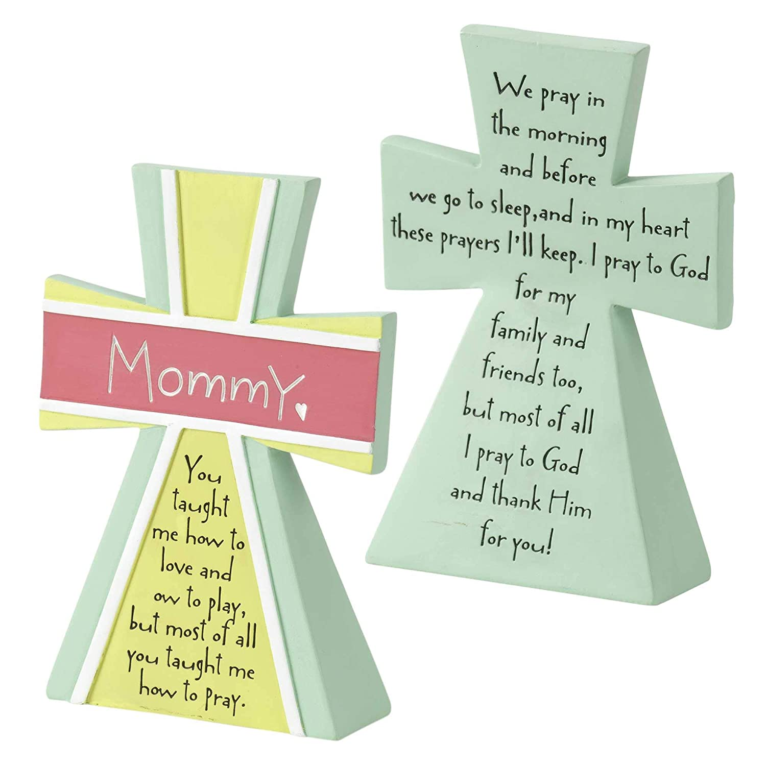 Dicksons Mommy You Taught Me Heart Soft Pastels Resin Stone ...