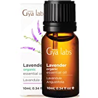 Gya Labs Lavender Essential Oil Organic For Stress Relief, Relaxation & Sleep - Topical Use For Dry Skin, Acne Treatment…