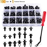 GOOACC 190 Pcs Car Retainer Clips & Fastener Remover - 18 Most Popular Sizes & Applications Auto Push Pin Rivets Set…