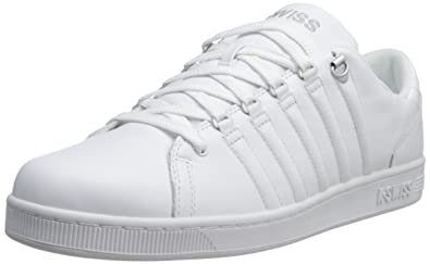 KSwiss Mens Lozan Fashion SneakerWhiteWhiteSilver7 M