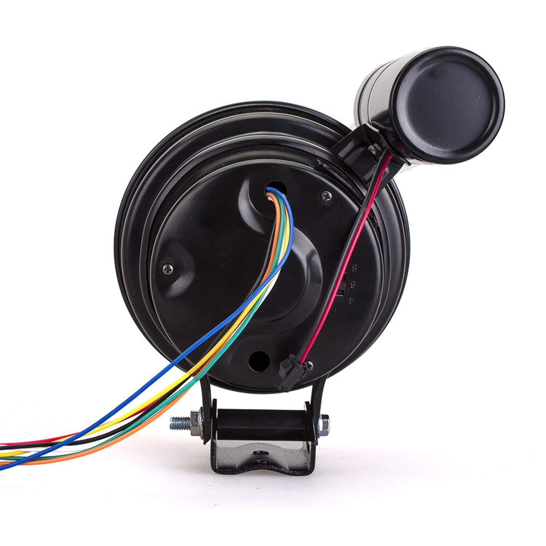 Ligera Indicador de Coche Tac/ómetro de 5 Pulgadas 7 Colores Puntero Ajustable Medidor Universal 0-11 /× 1000 RPM Durable XY