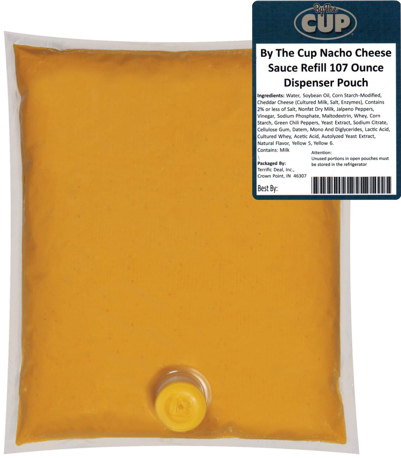 By The Cup Nacho Cheese Sauce Refill 107 Ounce Dispenser Pouch with Fitment