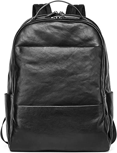 Sharkborough Christopher Rough Backpack Rough Men's Backpack Genuine Leather Bag Extra Capacity Casual Daypack