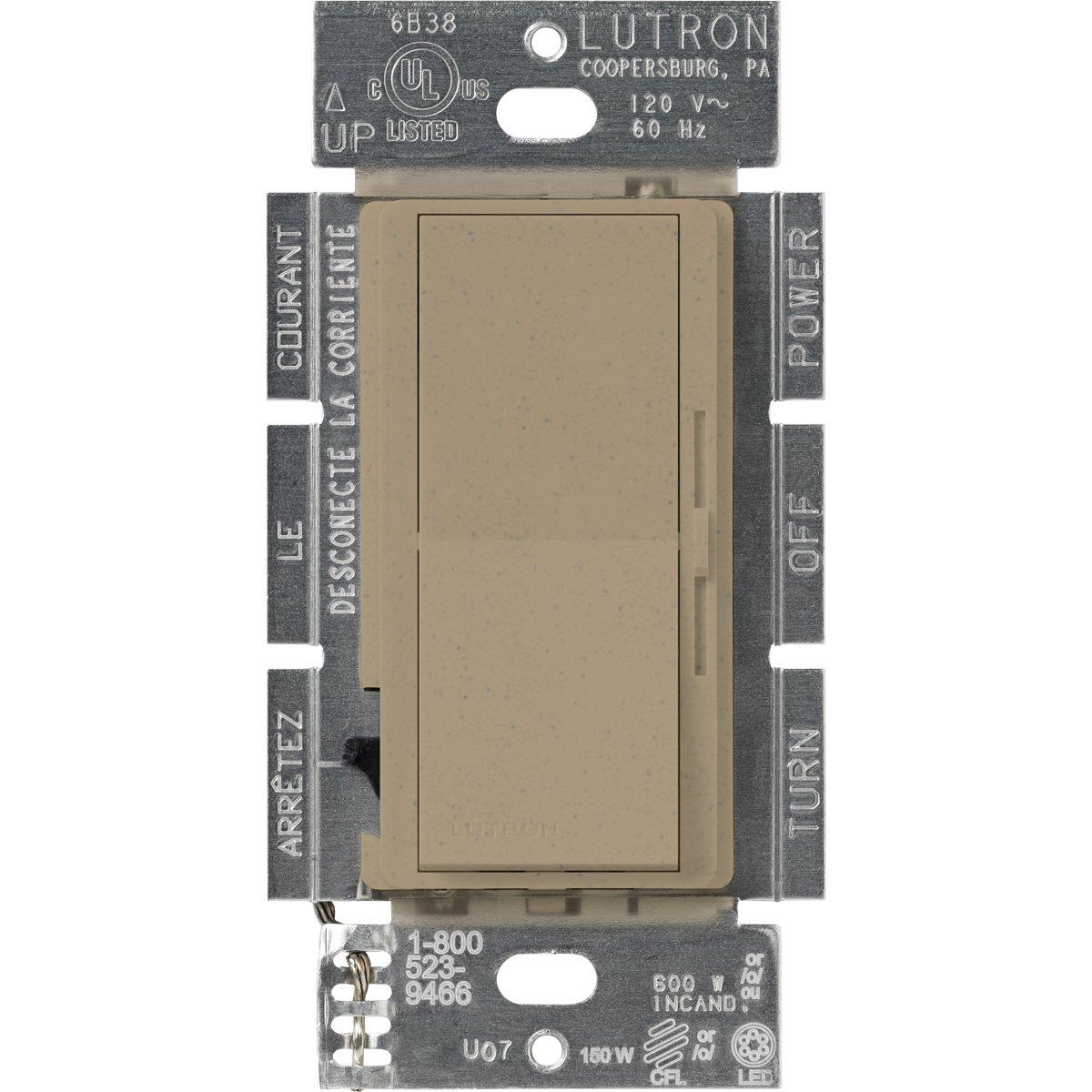 Lutron DVSCCL-153P-MS Diva Dimmable CFL/LED Dimmer, Mocha Stone