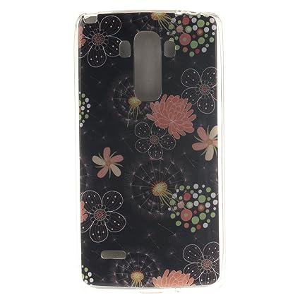 Guran® Silicona Funda Carcasa para LG G4 Stylus LS770 / LG G Stylo Smartphone Case Bumper Shock TPU Cover-Flores de colores