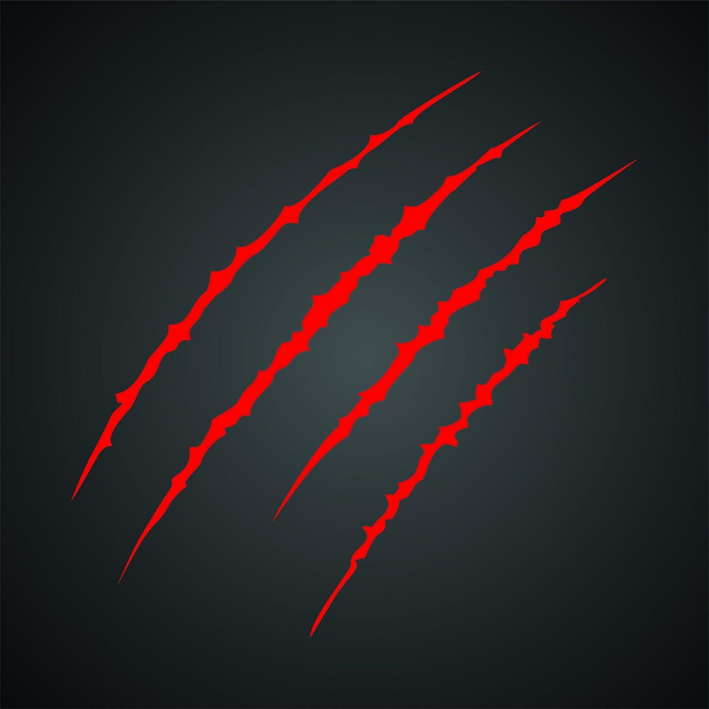 - Reusable Animal Scratch Marks Wall Stencil Template L 16.5 x 16.5cm Claw Mark Stencil