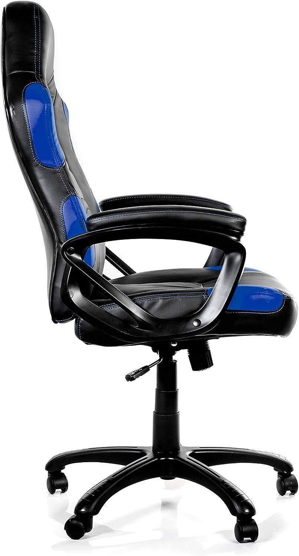 Arozzi Enzo Blue - Silla (Negro, 150 kg, 125 cm, 115 cm, 53 cm, 51 cm) Nero Blu